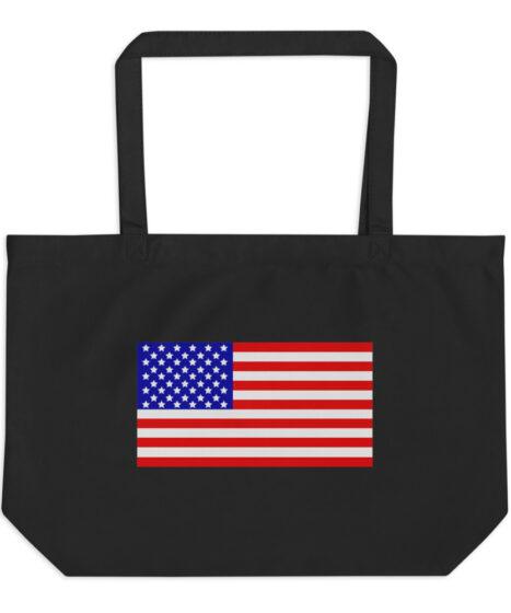 USA Flag Large organic tote bag