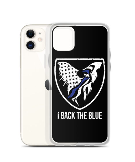 I Back The Blue iPhone Case