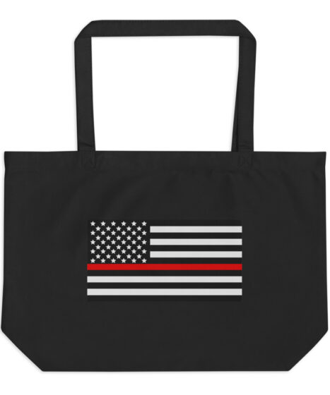 Firefighter Thin Red Line Large organic tote bag