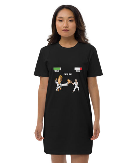 Trump Finish Biden Organic cotton t-shirt dress