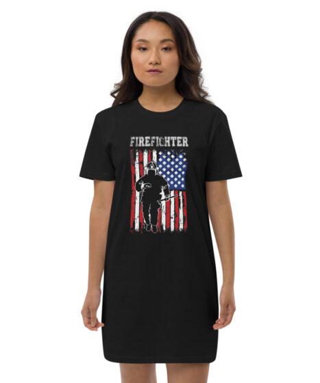 Firefighter Organic cotton t-shirt dress