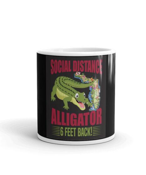 Social Distance Alligator Mug