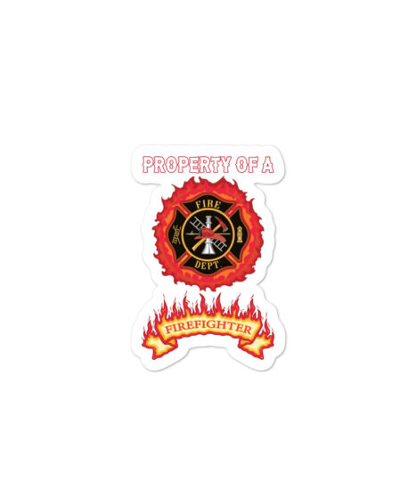 Property of Fire Fighter Bubble-free stickers