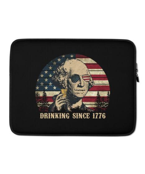 Drinking George Washington Laptop Sleeve