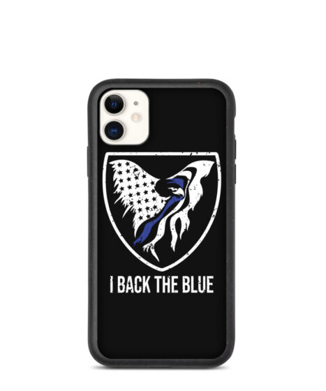 I Back The Blue Biodegradable phone case
