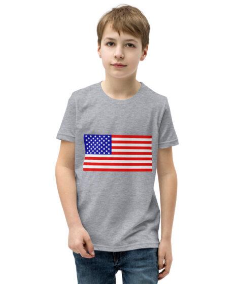 USA Flag Youth Short Sleeve T-Shirt