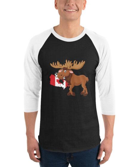 Canada Moose 3/4 sleeve raglan shirt