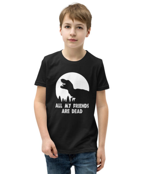 T-Rex All My Friends Are Dead Youth Short Sleeve T-Shirt