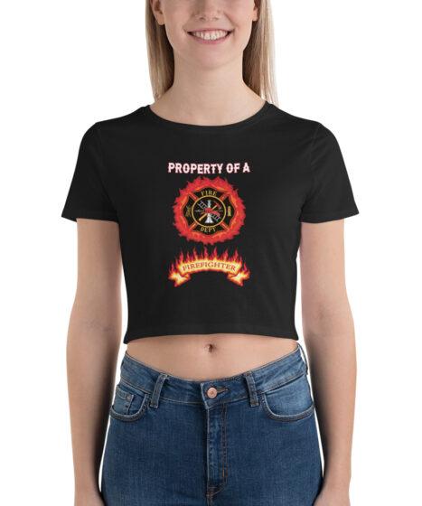 Property of Firefighter Women's Crop Tee