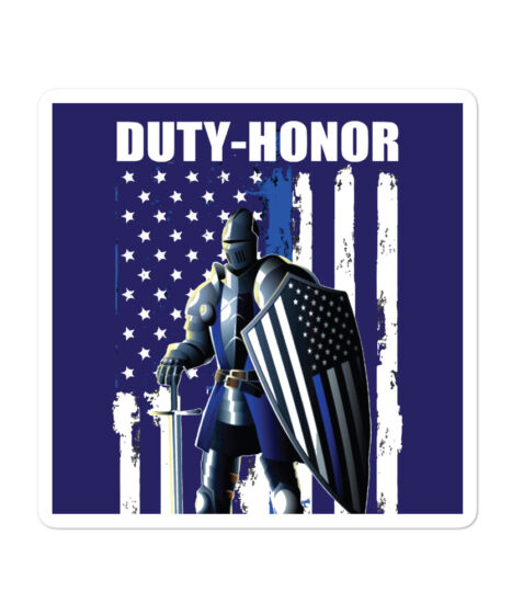 Duty-Honor Back The Blue Bubble-free stickers