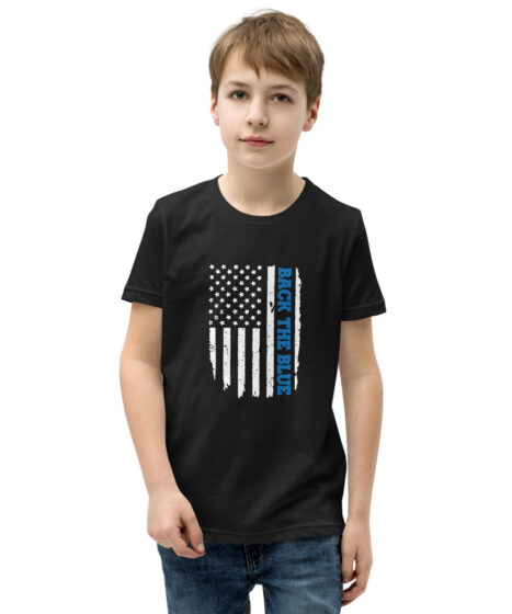 Back The Blue Youth Short Sleeve T-Shirt