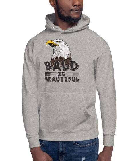 Bald is Beautiful Eagle Unisex Hoodie
