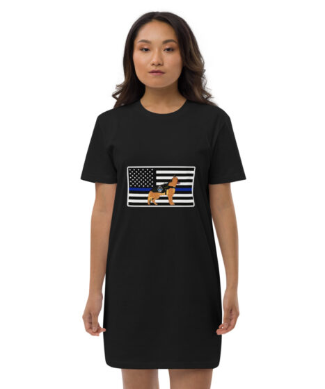 Thin Blue Line K9 Organic cotton t-shirt dress