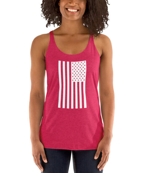USA Flag Women's Racerback Tank