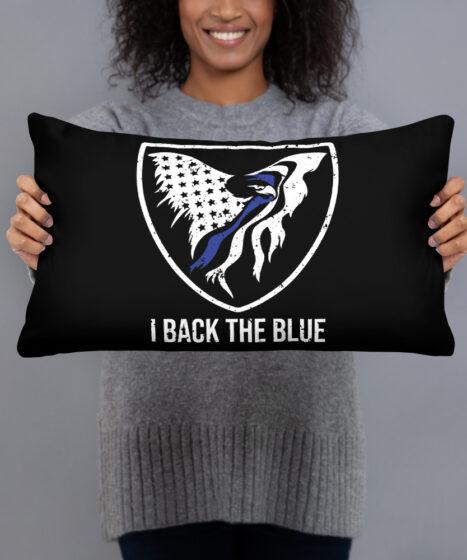 I Back The Blue Basic Pillow