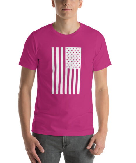 USA Flag Short-Sleeve Unisex T-Shirt