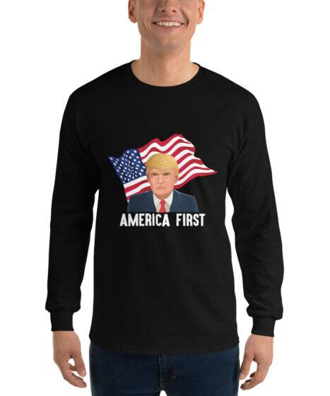 Trump America First Men's Long Sleeve Shirt