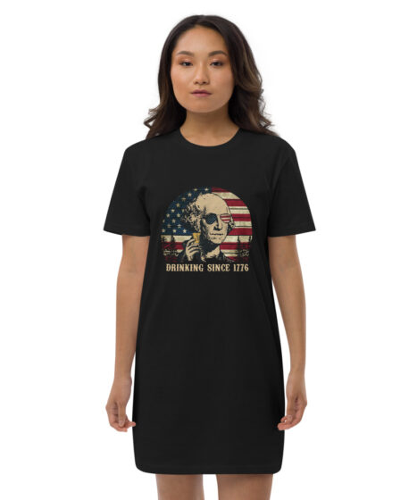 Drinking George Washington Organic cotton t-shirt dress