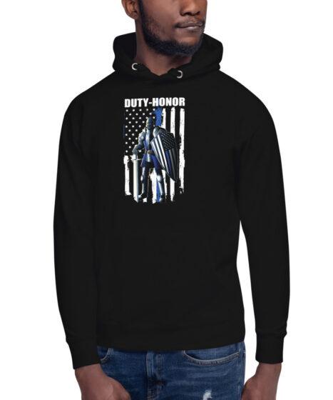 Duty-Honor Back The Blue Unisex Hoodie
