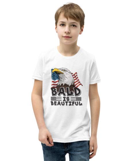 Bald is Beautiful Eagle Youth Short Sleeve T-Shirt