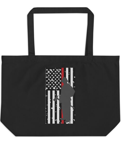 Thin Red Line Firefighter Large organic tote bag