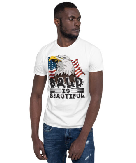Bald is Beautiful USA Short-Sleeve Unisex T-Shirt