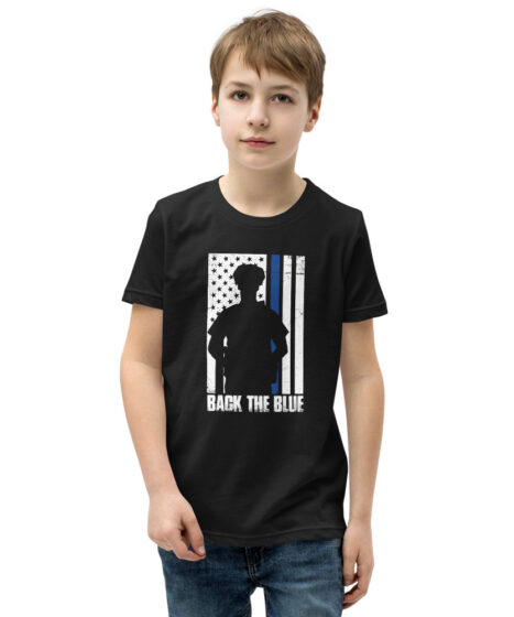 Law Enforcement Back The Blue Youth Short Sleeve T-Shirt