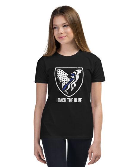 I Back The Blue Youth Short Sleeve T-Shirt