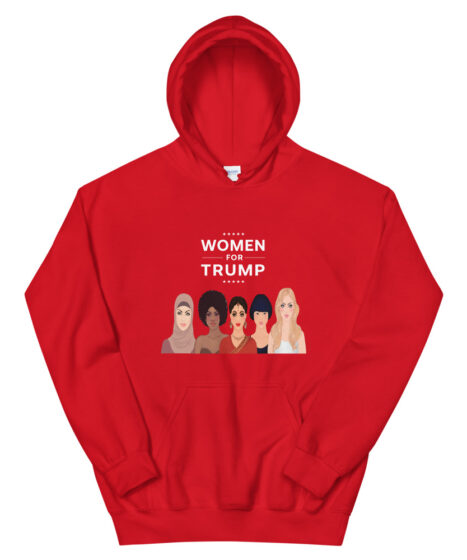 Women For Trump All Religions All Races Unisex Hoodie