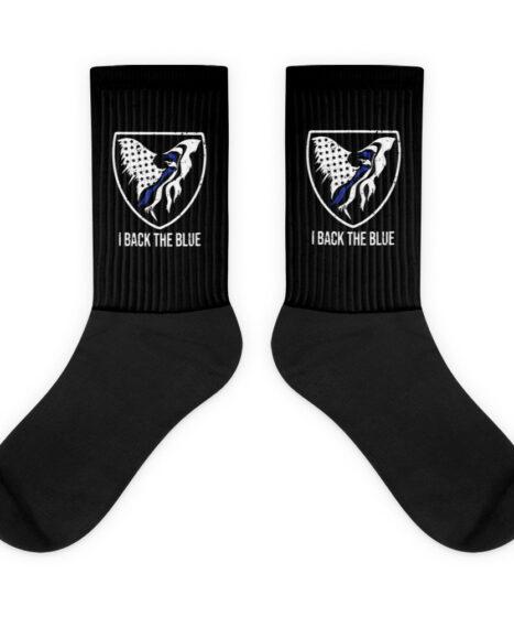 I Back The Blue Thin Blue Line Eagle Socks