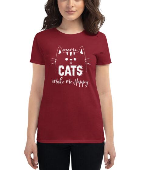 Cats Make Me Happy Women's short sleeve t-shirt