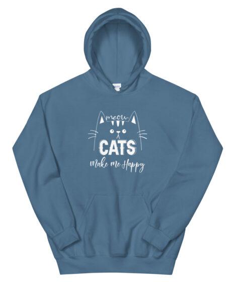 Cats Make Me Happy Unisex Hoodie
