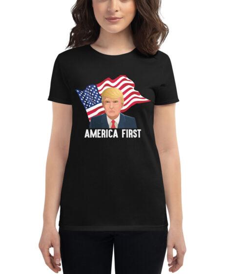 Donald Trump America First Women's short sleeve t-shirt