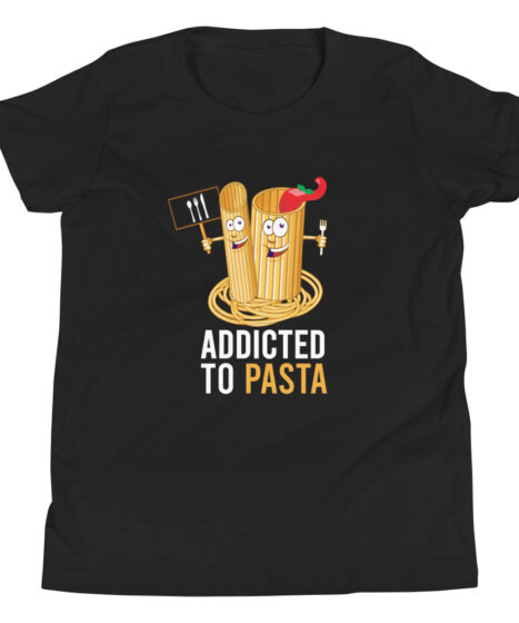 Addicted to Pasta Youth Short Sleeve T-Shirt