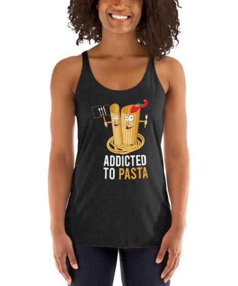 Addicted to Pasta Women's Racerback Tank