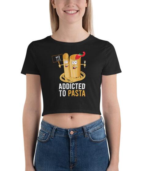 Addicted to Pasta Women's Crop Tee