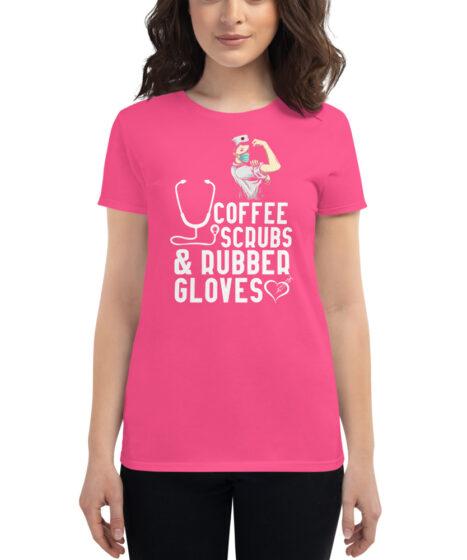 Coffee Scrubs & Rubber Gloves Women's short sleeve t-shirt