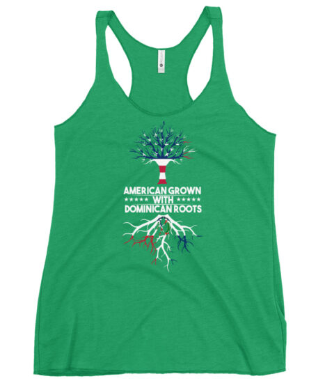 American Grown With Dominican Roots Women's Racerback Tank