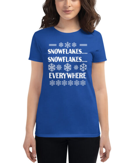 Snowflakes Everywhere Women's short sleeve t-shirt