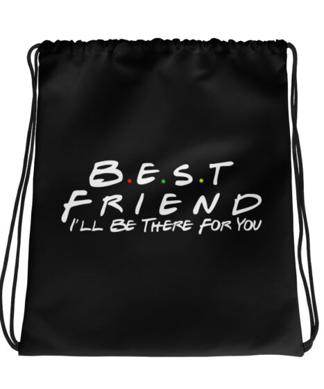 Best Friend Drawstring bag