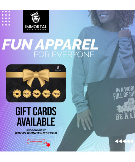 Gift Cards | Immortal Entertainment