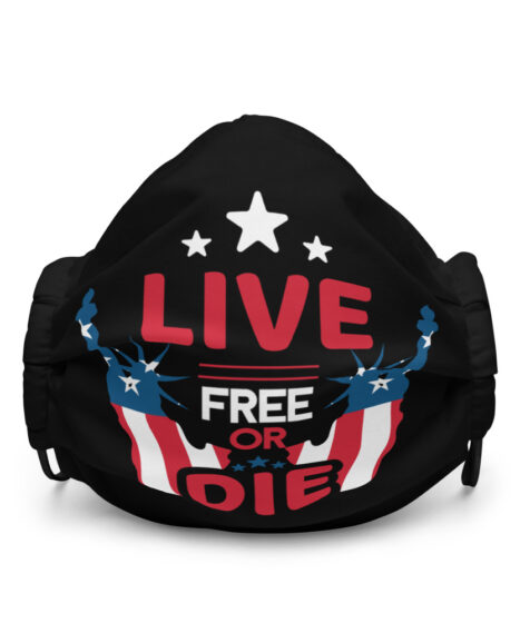 Live Free Or Die USA Premium face mask