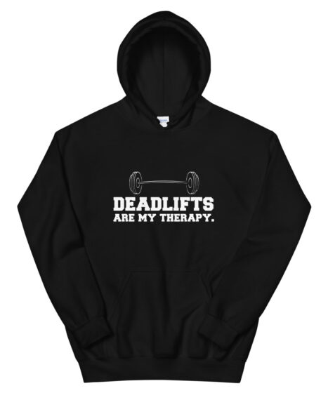 Deadlifts Are My Therapy Unisex Hoodie