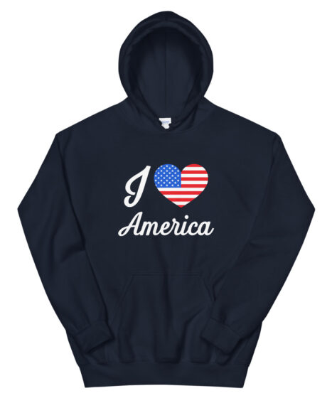 I Love America Unisex Hoodie