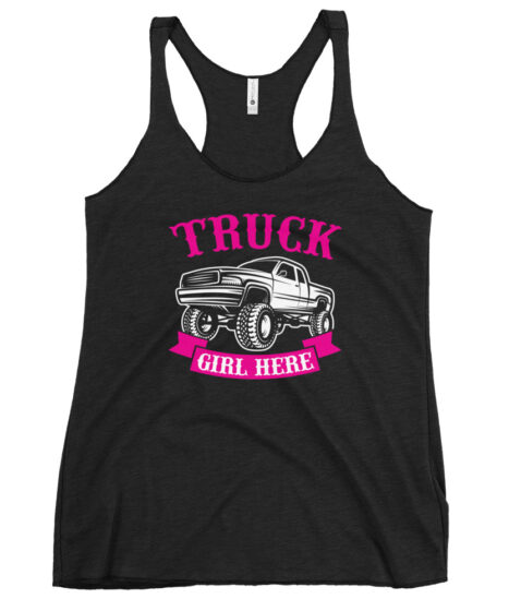 Truck Girl  Women's Racerback Tank