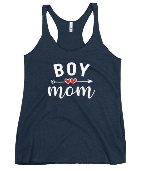 Boy Mom Women's Racerback Tank