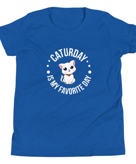 Caturday Cat Youth Short Sleeve T-Shirt