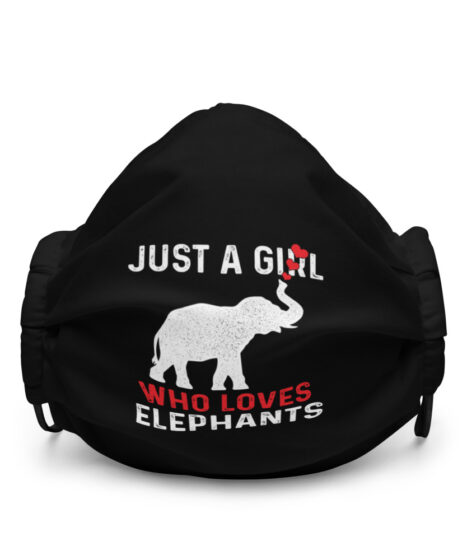 Just A Girl Who Loves Elephants Premium face mask