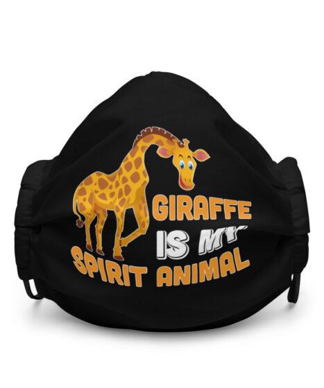 Giraffe Is My Spirit Anima Premium face mask