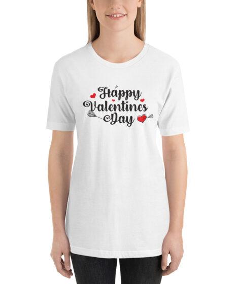 Happy Valentine's Day Short-Sleeve Unisex T-Shirt